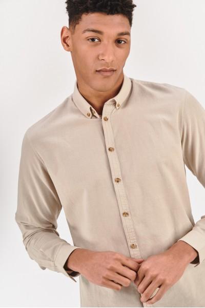 Koszula regular z domieszką lnu  jSUwC