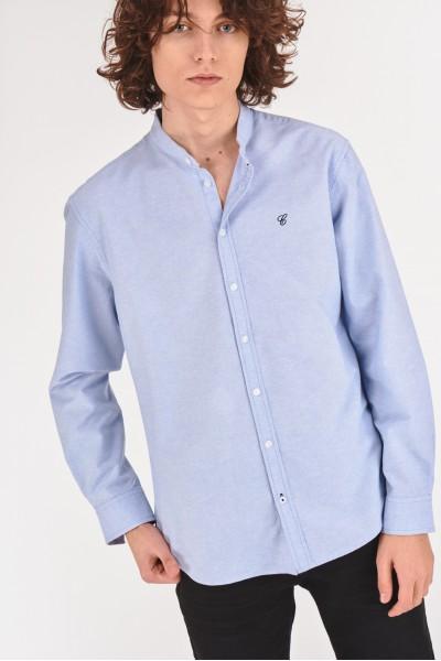 Bawełniana koszula regular ze stójką