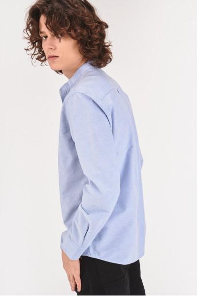 Bawełniana koszula regular ze stójką  O2m8K