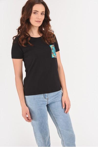 Koszulka z kolorową kieszonką