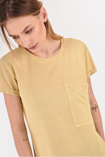 Koszula z kieszenią sięgającą bocznego szwu