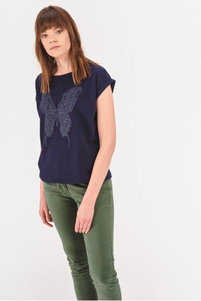 Koszulka ze ściągaczem na dole