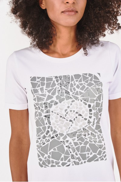 Tunika z nadrukiem imitującym mozaikę