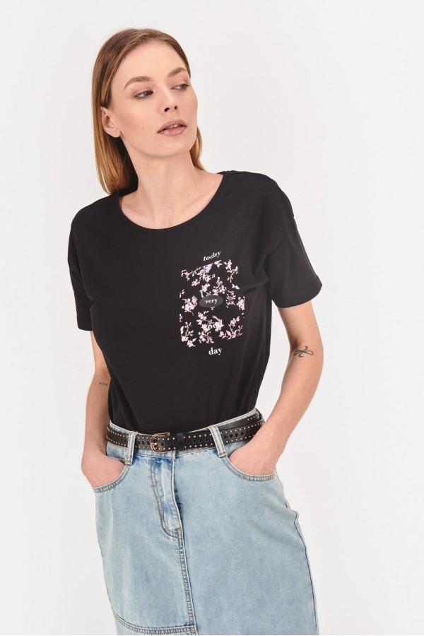 Koszulka z ozdobną kieszonką