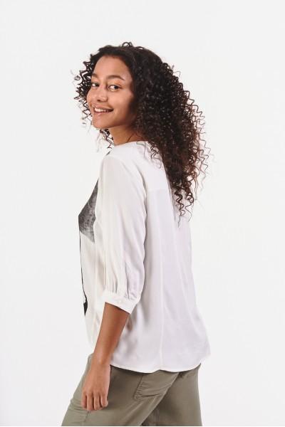 Asymetryczna bluzka z wiskozy