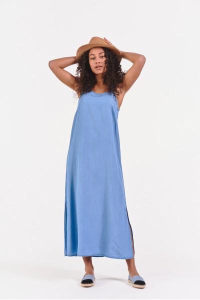 Luźna sukienka maxi