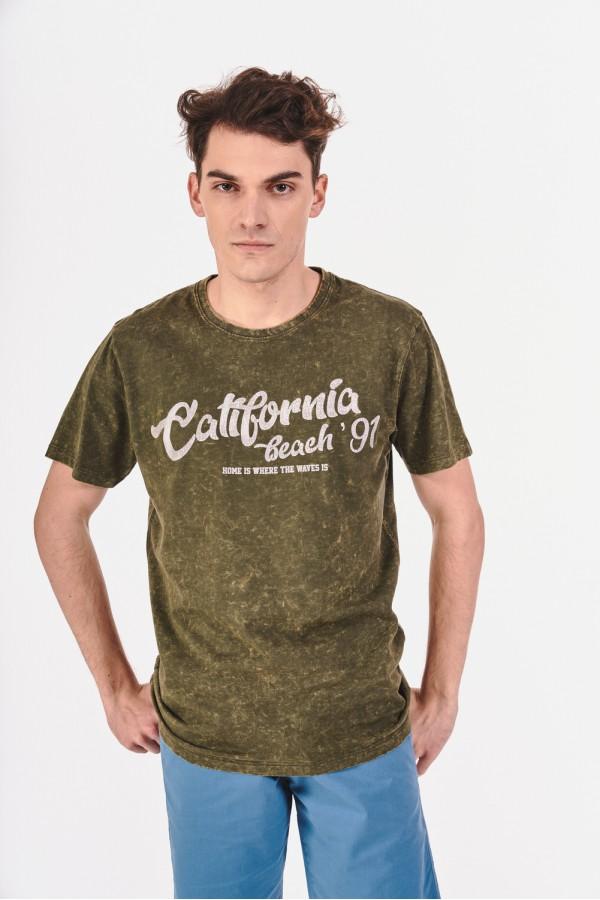 Koszulka z efektem spranego materiału