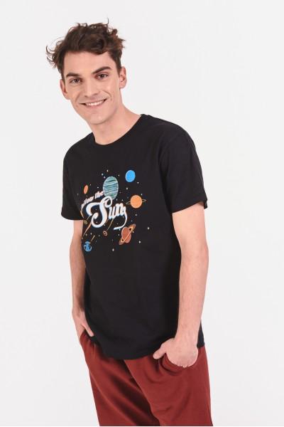 Bawełniana koszulka z motywem kosmosu