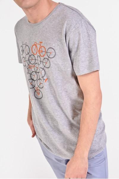 Bawełniana koszulka z trójkątnym nadrukiem