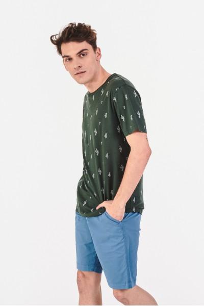 Bawełniana koszulka w kaktusy