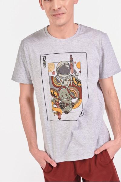 Koszulka z karcianym nadrukiem