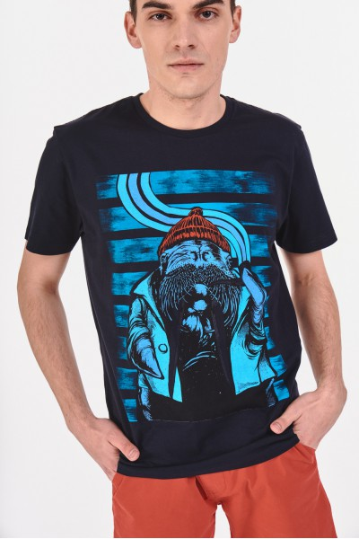 T-shirt z bawełnianego materiału