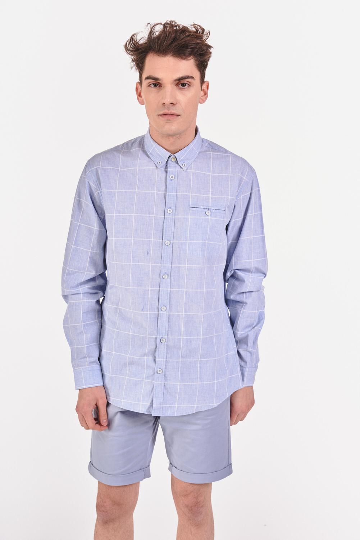 Bawełniana koszula regular w delikatną kratę
