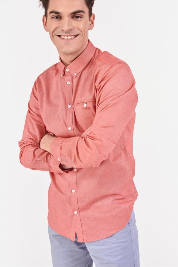 Bawełniana koszula slim z domieszką elastanu