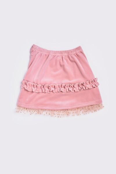 Welurowa spódnica