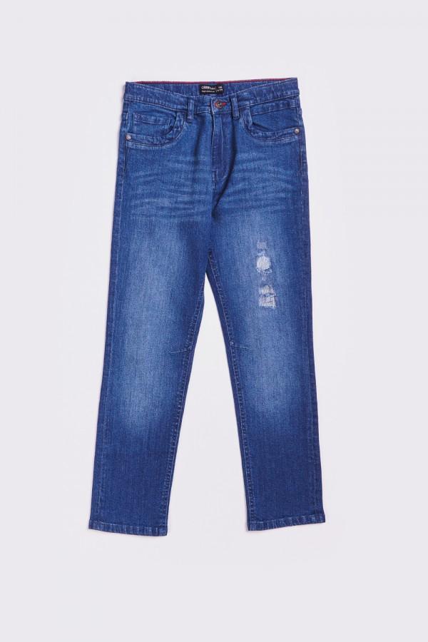 Klasyczne jeansy z przetarciem