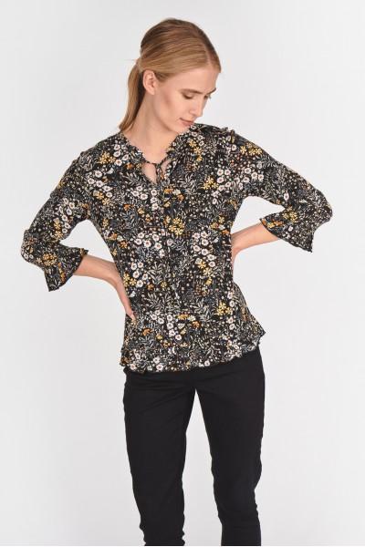 Wiskozowa bluzka z falbankami