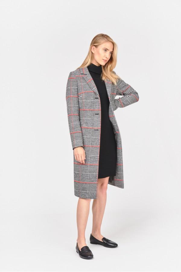 Jesienny płaszcz z domieszką wełny