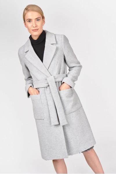 Płaszcz z domieszką wełny