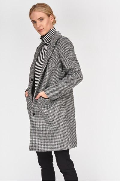 Elegancki płaszcz w pepitkę