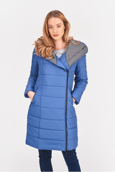 Płaszcz z szerokim kapturem
