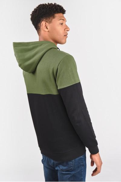 Dwukolorowa bluza z kapturem