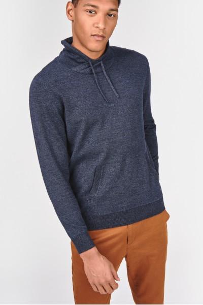 Bawełniany pulower z kominem