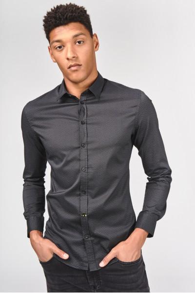 Koszula slim z dodatkiem elastanu