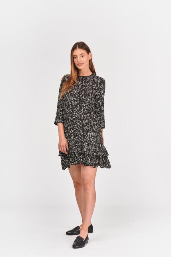 Sukienka z podwójną falbanką