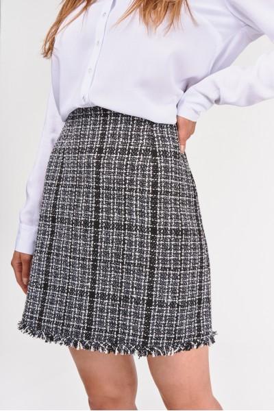 Trapezowa spódnica w kratę