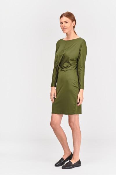 Sukienka z asymetrycznym upięciem