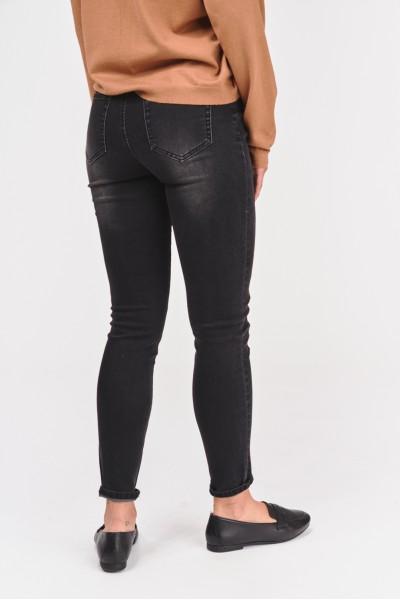 Spodnie z ciemnego denimu