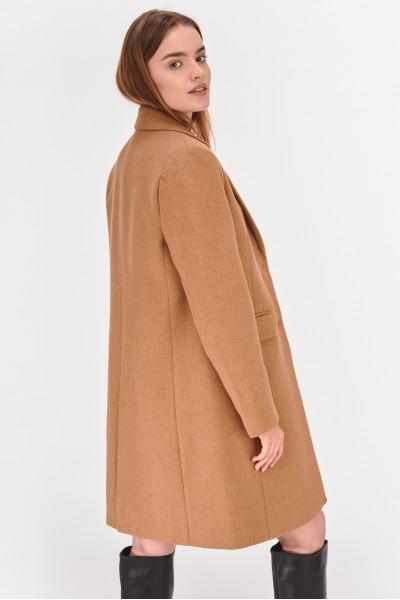 Jednorzędowy płaszcz z dodatkiem wełny