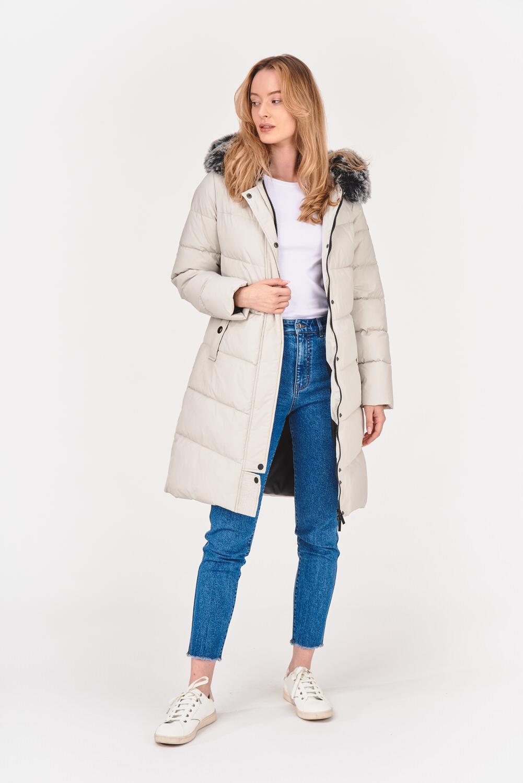 Ocieplany płaszcz zimowy