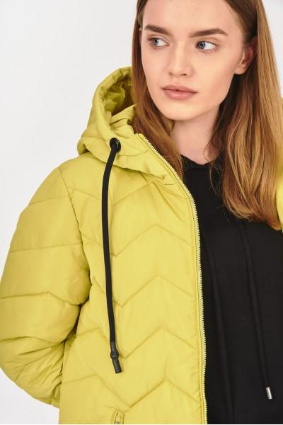 Zimowy płaszcz z kapturem