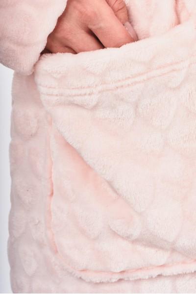 Szlafrok z pluszowego materiału