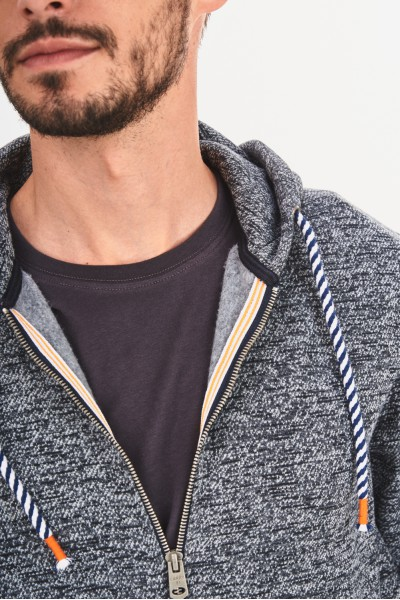 Melanżowa bluza z kapturem
