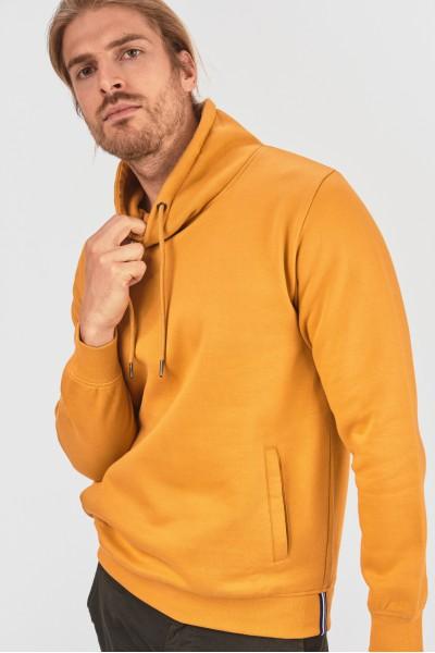Melanżowa bluza z kołnierzem