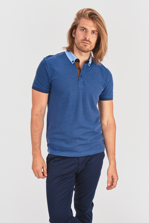 Melanżowa koszulka polo