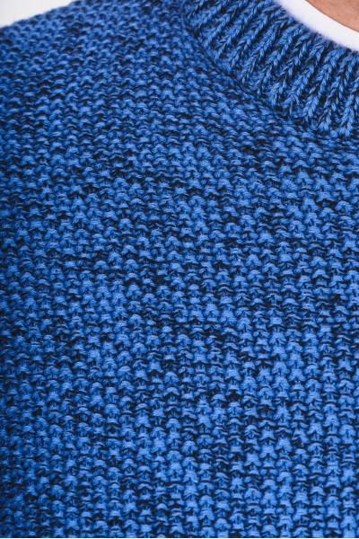 Sweter z melanżowej dzianiny