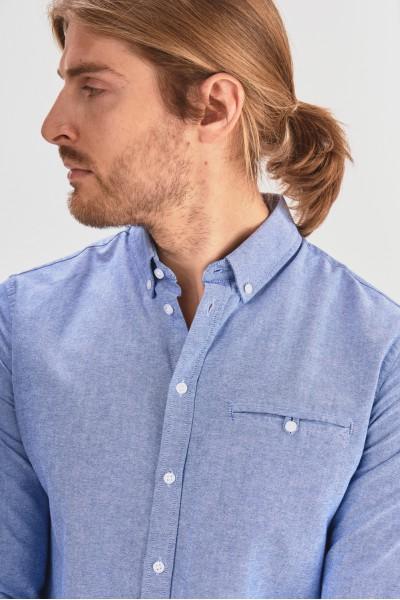 Koszula slim z kieszonką