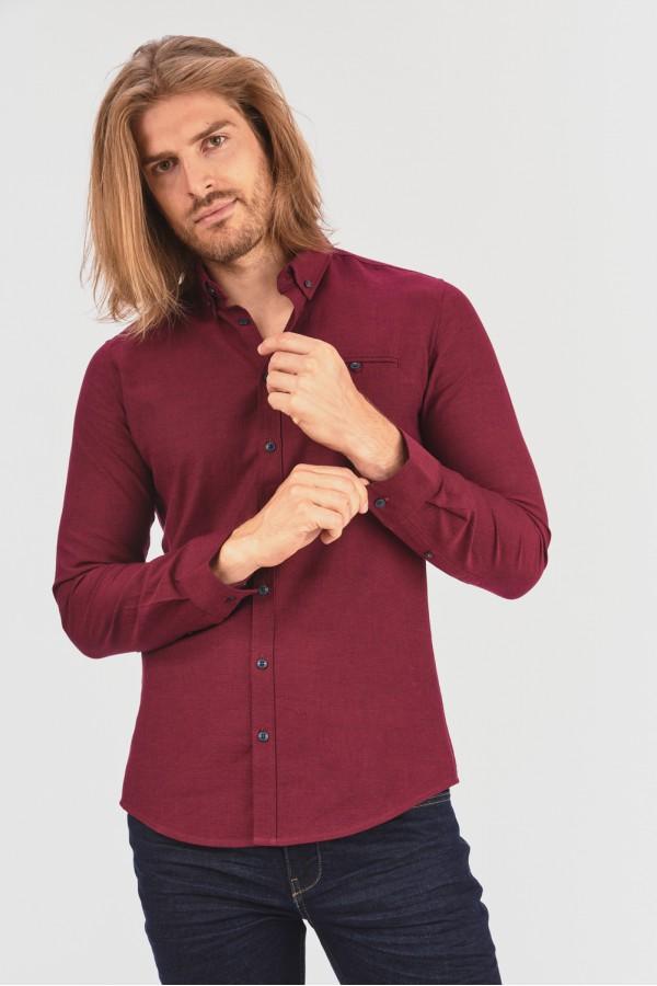 Gładka koszula slim