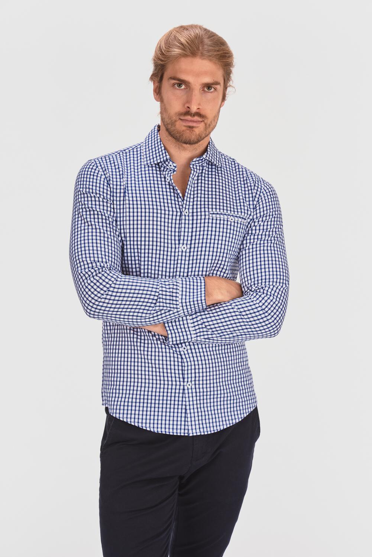 Koszula slim w kratkę
