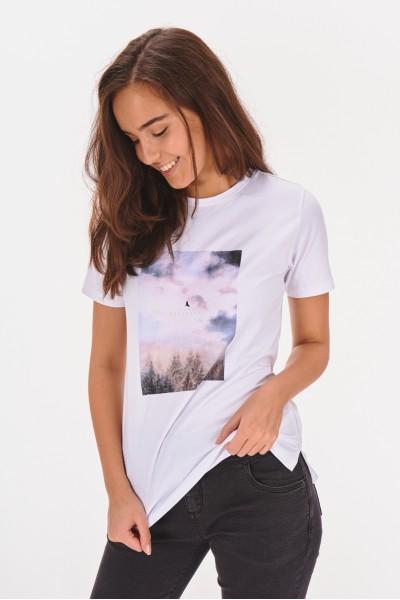 T-shirt z prostokątnym nadrukiem