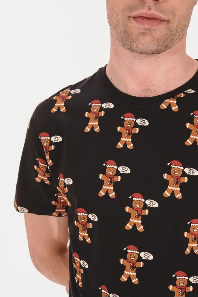 Koszulka w świąteczny wzór