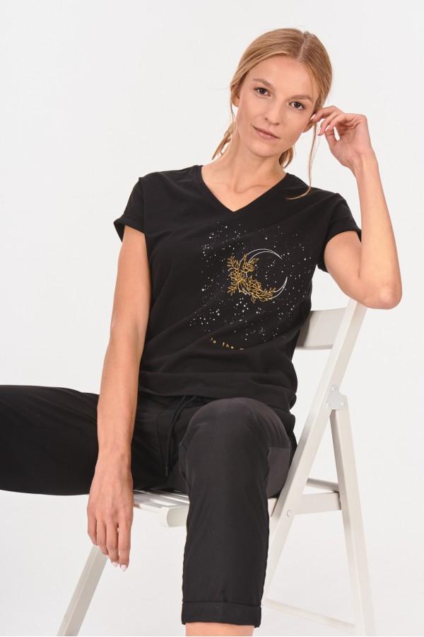 Koszulka z księżycową grafiką