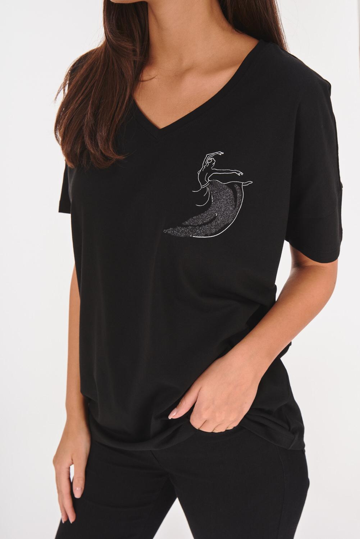 Koszulka z dekoltem w serek