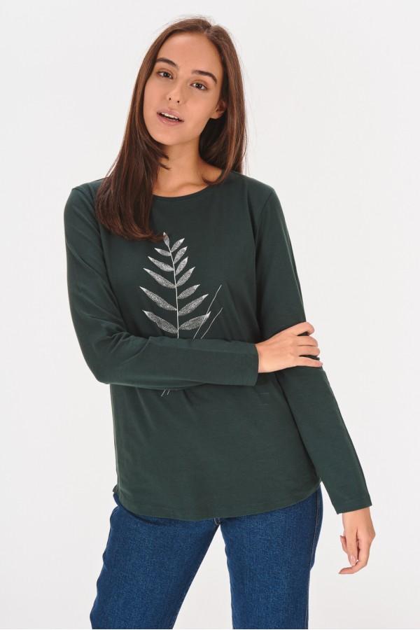 Bawełniana koszulka z długim rękawem