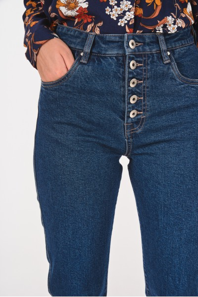 Jeansy z wysokim stanem