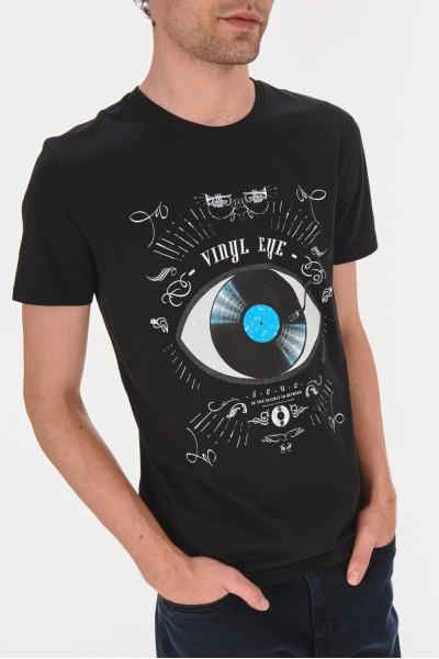 T-shirt z muzycznym nadrukiem